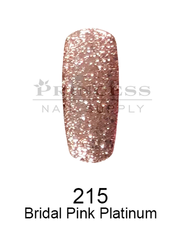 DND DC Platinum Gel - 215 Bridal Pink Platinum .6 oz