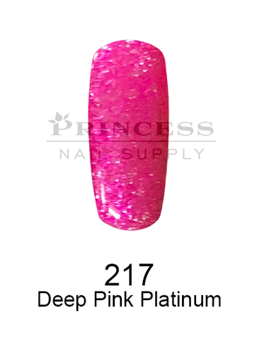 DND DC Platinum Gel - 217 Deep Pink Platinum .6 oz