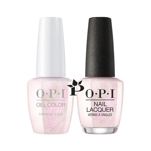 OPI Duo - GCSH2 + NLSH2 - Throw Me a Kiss .5 oz