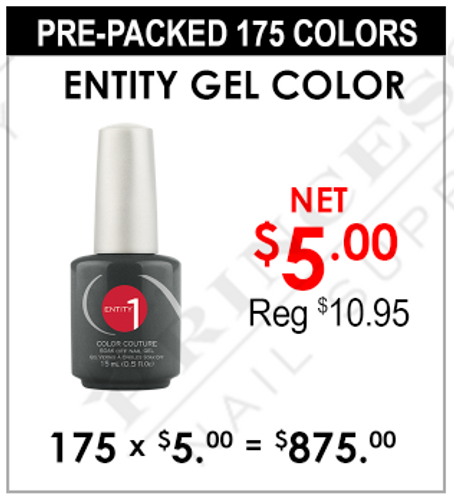 Entity Gel Color - Pre-Packed 175 Colors (Clearance - No Return)