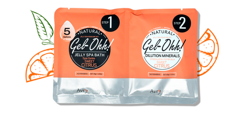 Avry GEL-OHH! Natural Jelly Spa Pedicure Set - SWEET CITRUS