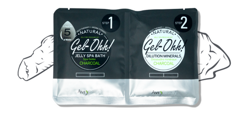 Avry GEL-OHH! Natural Jelly Spa Pedicure Set - CHARCOAL