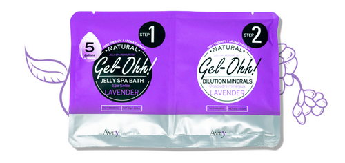 Avry GEL-OHH! Natural Jelly Spa Pedicure Set - LAVENDER
