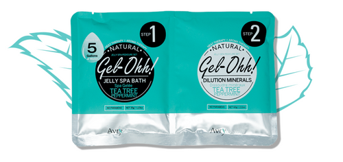 Avry GEL-OHH! Natural Jelly Spa Pedicure Set - TEA TREE & PEPPERMINT