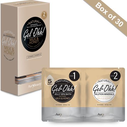 Avry GEL-OHH! Natural Jelly Spa Pedicure Set - MILK & HONEY - Box/30 sets