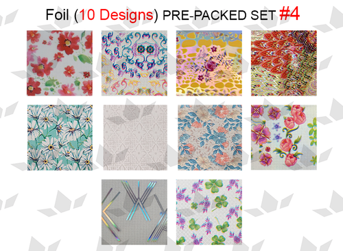 WaveGel Foil - 10 Pre-Packed Foil Designs #4  - GET 1 FREE BLINK GEL