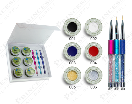 20% Off Chisel Painting Gel Kit - 6 Colors + 3 Art Brushes