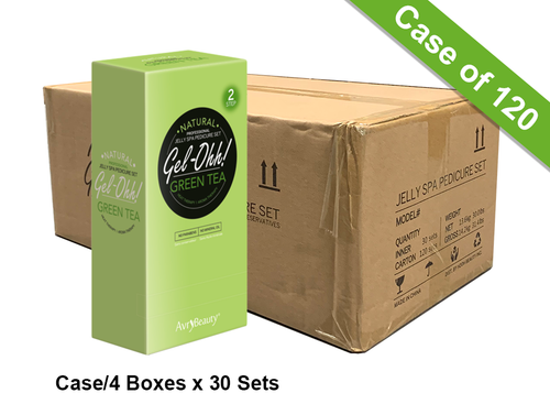 Avry GEL-OHH! Natural Jelly Spa Pedicure Set - GREEN TEA - Case/120 sets