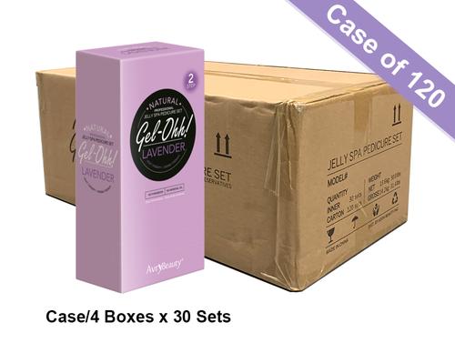 Avry GEL-OHH! Natural Jelly Spa Pedicure Set - LAVENDER - Case/120 sets