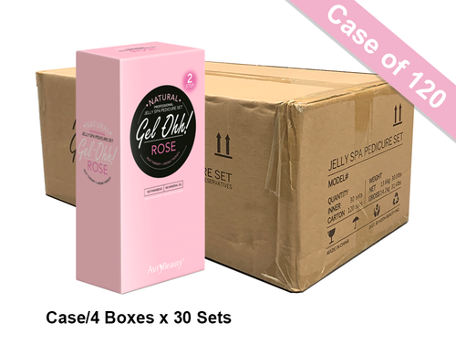 Avry GEL-OHH! Natural Jelly Spa Pedicure Set - ROSE - Case/120 sets
