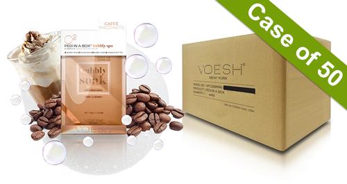 Voesh Case/50pks - Pedi in a Box - 4 Step O2 Bubbly Soak Spa - Caffe Macchiato (VPC307CFM)