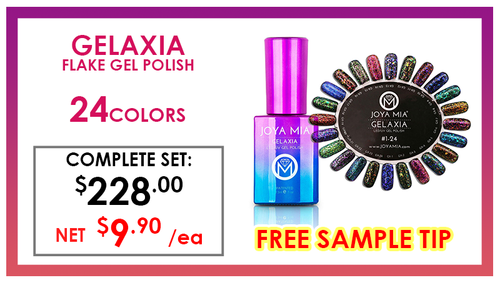 Joya Mia Gelaxia Flake Gel .5 oz - Complete Set - 24 Colors (GX01-GX24) GET FREE SAMPLE TIP