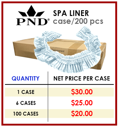 PND Spa Liner (Clear) - Case/200 pcs