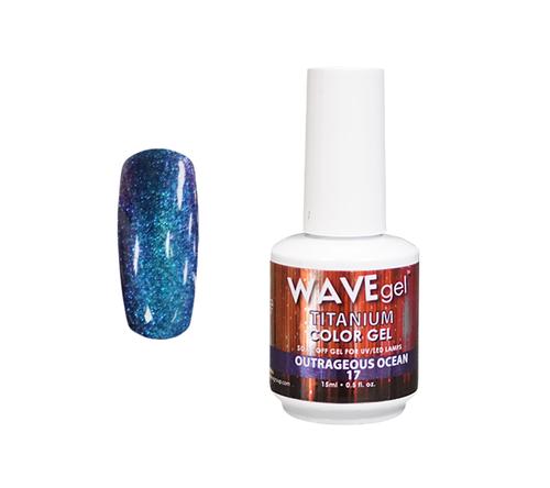 WaveGel Titanium Color Gel - #17 Outrageous Ocean .5 oz