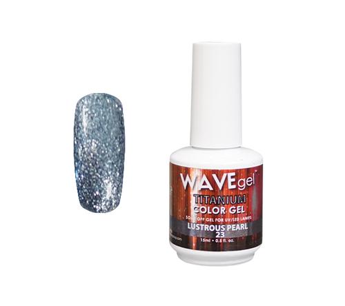 WaveGel Titanium Color Gel - #23 Lustrous Pearl .5 oz