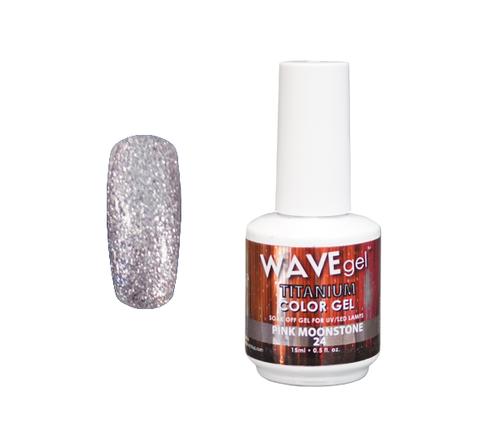 WaveGel Titanium Color Gel - #24 Pink Moonstone .5 oz