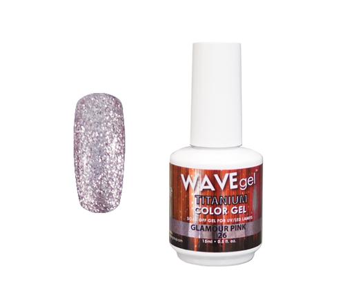 WaveGel Titanium Color Gel - #26 Glamour Pink .5 oz