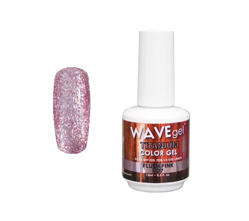 WaveGel Titanium Color Gel - #27 Flush Pink .5 oz