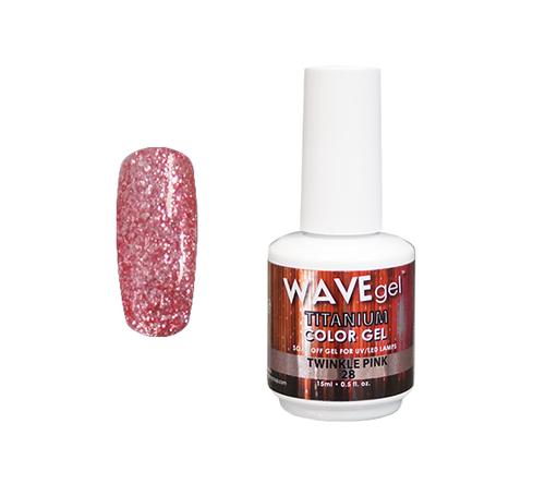 WaveGel Titanium Color Gel - #28 Twinkle Pink .5 oz