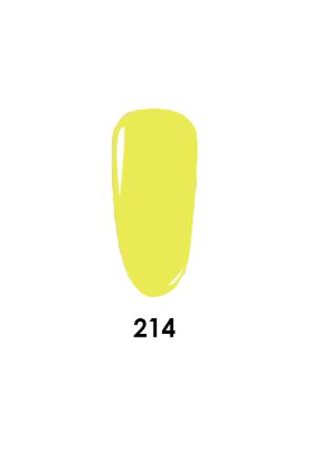Wavegel 3in1 Matching (GEL+LACQUER+DIP) - #214(W214) SUPER LEMON