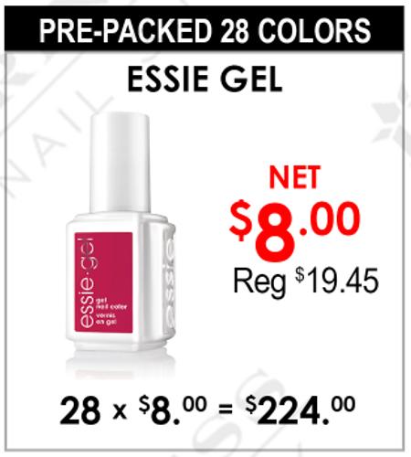 Essie Gel Gel - Pre-Packed 28 Colors (Clearance - No Return)