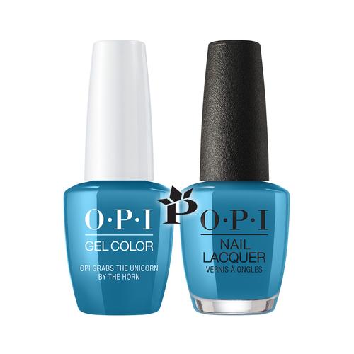 OPI Duo - GCU20 + NLU20 - OPI Grabs the Unicorn by the Horn .5 oz