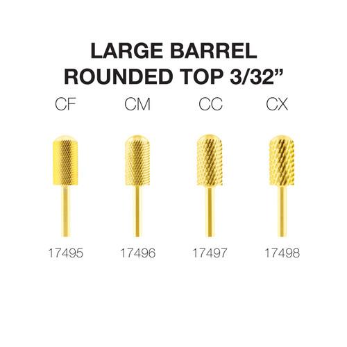 "PND Carbide Bit - Large Barrel Round Top 3/32"" (Gold)"