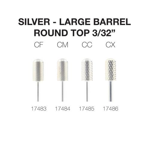 "PND Carbide Bit - Large Barrel Round Top 3/32"" (Silver)"