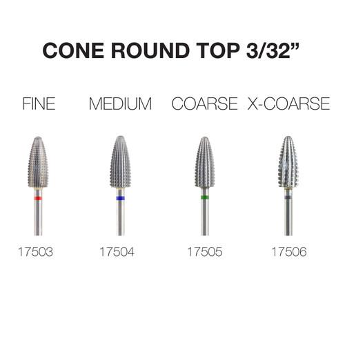 "PND Carbide Bit - Cone Round Top 3/32"""