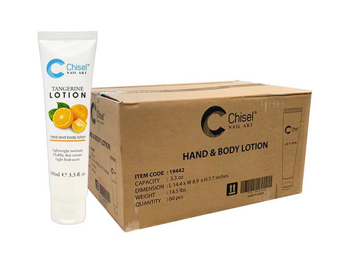 Chisel Hand & Body Lotion - Tangerine 3.3 oz (Case/60 pcs)