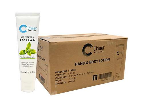 Chisel Hand & Body Lotion - Green Tea 3.3 oz (Case/60 pcs)