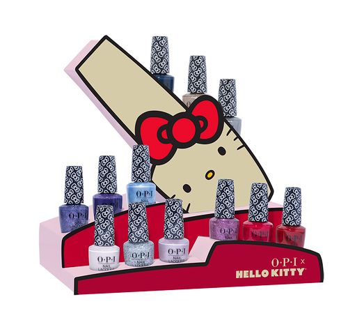 OPI Lacquer - HPL21 Hello Kitty Lacquer Chipboard Display - 12pc