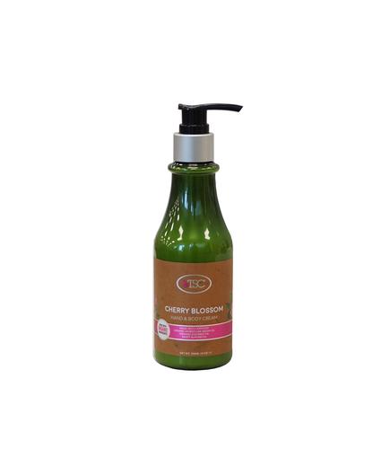 TSC Spa Organic Hand & Body Cream - Cherry Blossom 8oz