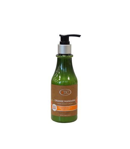 TSC Spa Organic Hand & Body Cream - Orange Mandarin 8 oz