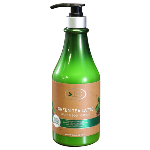 TSC Spa Organic Hand & Body Cream - Green Tea Latte 30 oz