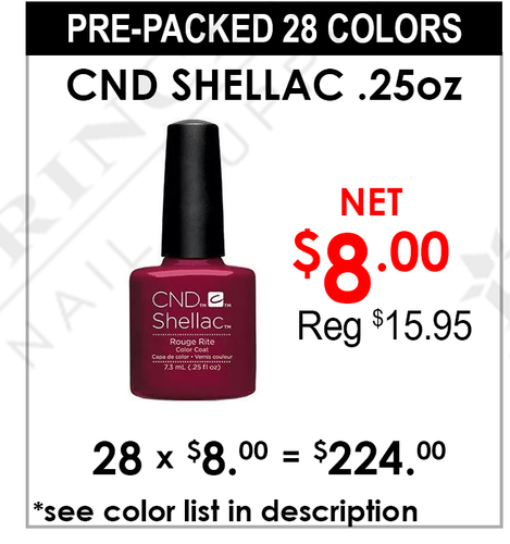 Shellac - Pre-Packed 28 Colors (Clearance - No Return)