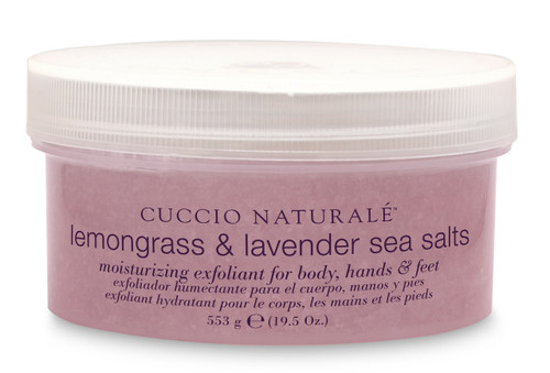 Cuccio Lemongrass & Lavender Sea Salts 19.5 oz