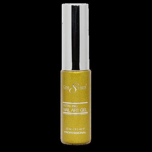 Creation Detailing Nail Art Gel - 26 Gold Glitter .33 oz