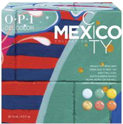 OPI GelColor - GC284  Mexico City Add-On Kit #1 - 6pc
