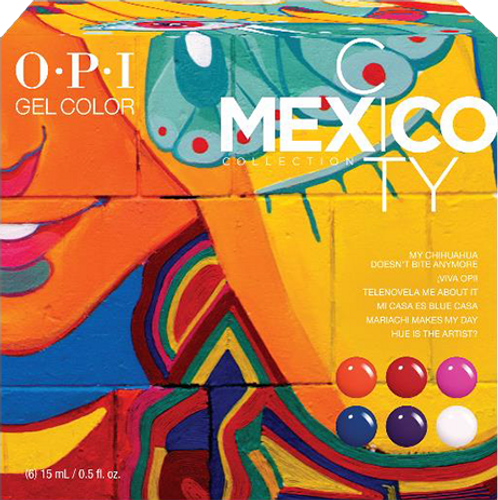 OPI GelColor - GC285  Mexico City Add-On Kit #2 - 6pc
