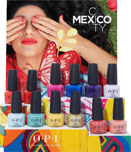 OPI Lacquer - DCM03 Mexico City Lacquer Chipboard Display - 12pc