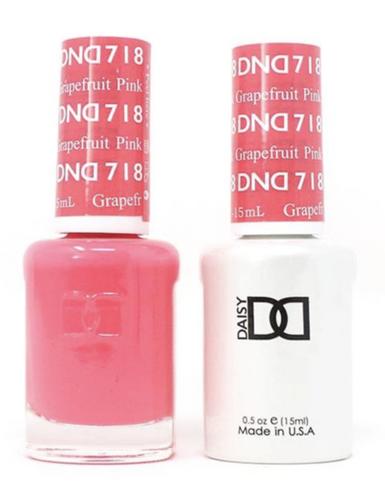 DND Duo Gel - #718 PINK GRAPEFRUIT