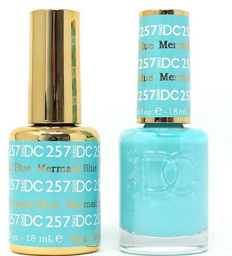 DND DC Duo Gel - #257 Mermaid Blue