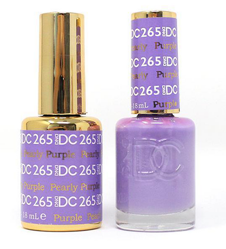 DND DC Duo Gel - #265 Pearly Purple