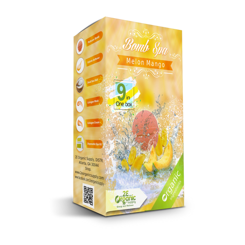 2E Organic - Bomb Spa 9 in 1 Pedi Kit  - Melon Mango