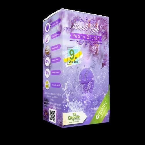 2E Organic - Bomb Spa 9 in 1 Pedi Kit  - Peony Orchid