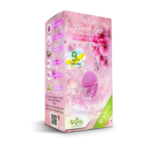 2E Organic - Bomb Spa 9 in 1 Case(50 boxes)  - Cherry Blossom
