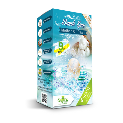 2E Organic - Bomb Spa 9 in 1 Case(50 boxes)  - Mother of Pearl
