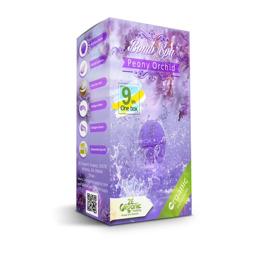 2E Organic - Bomb Spa 9 in 1 Case(50 boxes)  - Peony Orchid