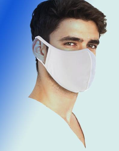 Fabric GA 2Ply White Face Mask, Washable,  5 pcs/bag, ($1.25 each)